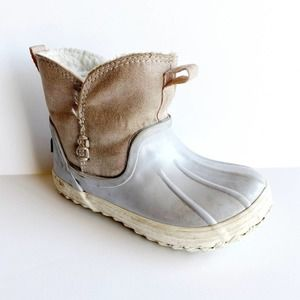 Sperry Waypoint Boot Pink Gray Faux fur lined 6
